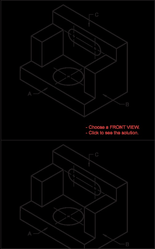 Creating an Orthographic Projection exercise