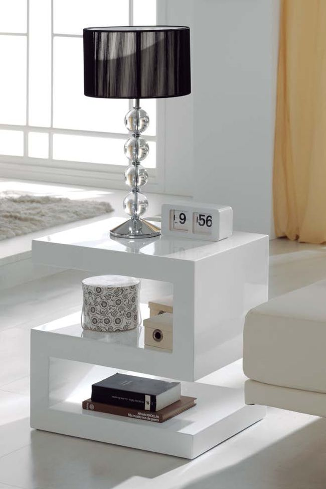 Mesa de centro lacada blanco mesa de centro dugar home - Mesas de salon de diseno ...