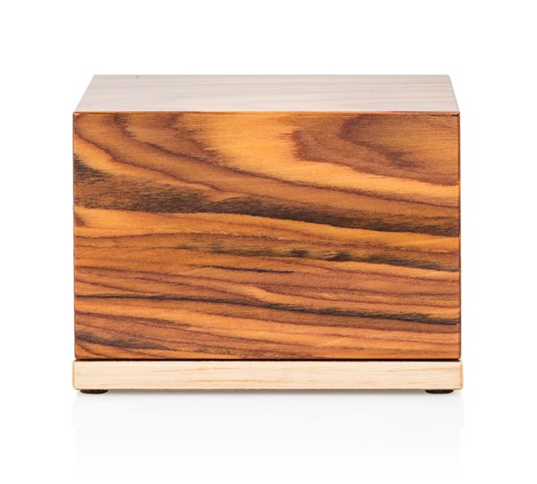 """Keepsake Urn For Ashes - Italian Lacquered Wood Prism in """"Pure"""""""