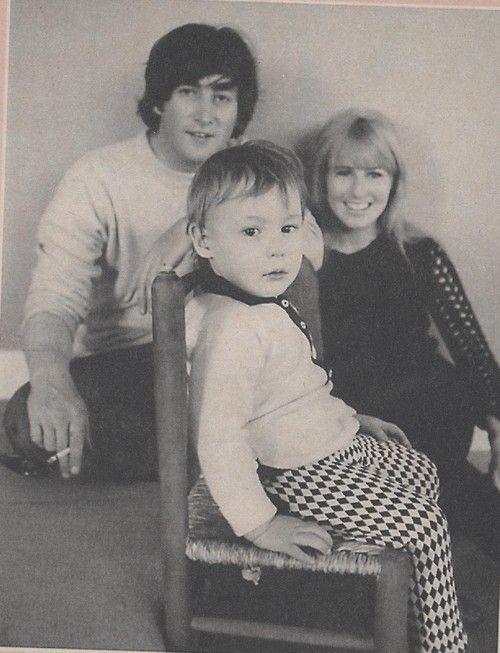 "The ""First"" Lennon family . . . John, Cynthia and Julian"