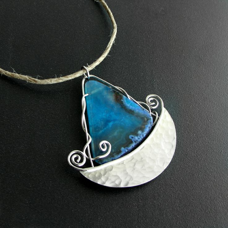 Emmanuela.gr - Handmade Jewelry - Pendant Necklaces :: Ship Shaped Sterling Silver Pendant on Cord
