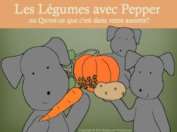 Learn with Pepper in French about eight common vegetables on your dinner plate…