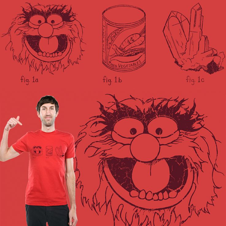 "Love the Muppets and Science? Or maybe you're just a big fan of rebuses? Please score my newest entry to Threadless t-shirt ""Animal • Vegetable • Mineral"". Click through and check it out; and if you like it, don't forget to score it!  #art #muppets #funny #science"