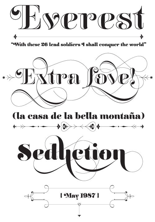 Had the fortune to interview this type designer via email.....this typeface is fantastic. Reina