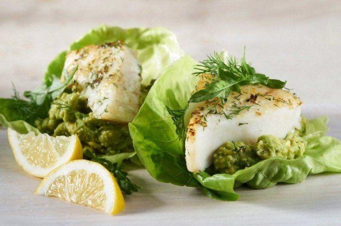 Dilled Alaska Cod Burgers With Avocado Spread