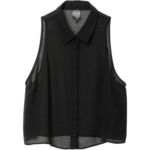 Rosanna Singlet ($25) ❤ liked on Polyvore featuring tops, shirts, blouses, tank tops, sheer tank, sheer shirt, sheer tank top, shirt tops and see through tank tops