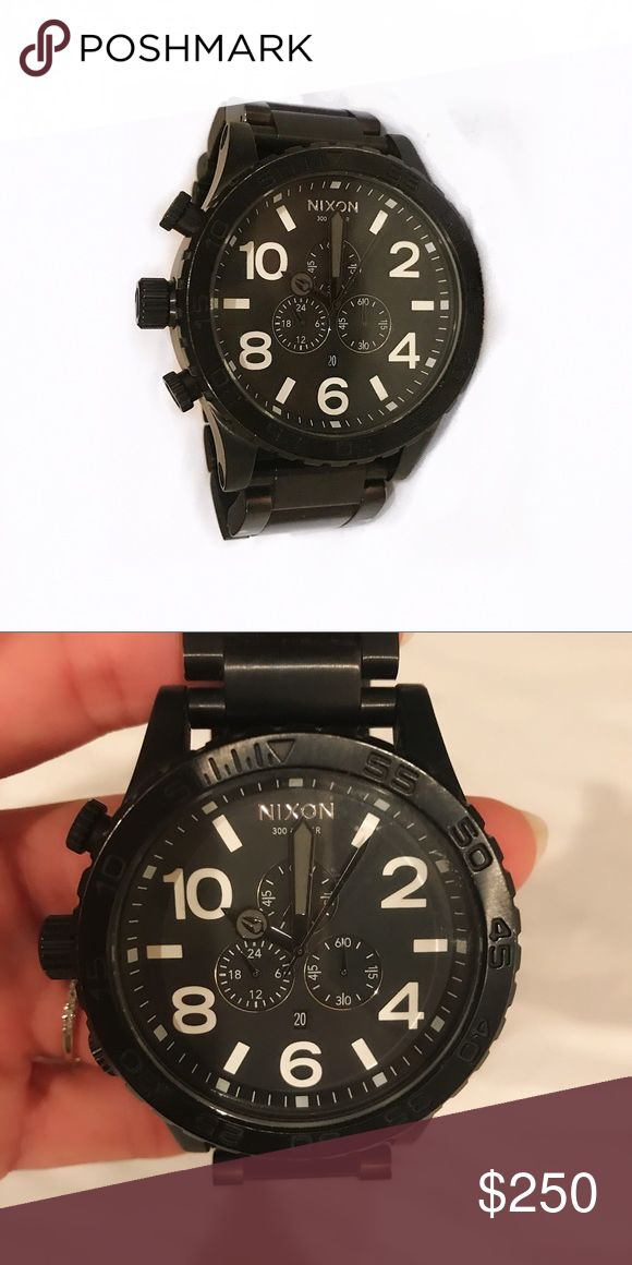 Large Black Nixon Watch Pre owned in great shape. Large face Nixon watch with white numbers. Water resistant. No case Nixon Accessories Watches