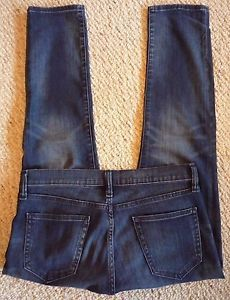 Gap 1969, Cropped/Capri/Ankle-Pants Girlfriend Jeans, Low Rise, Medium to Dark Wash, Slimmer fit but not a skinny jean, with whiskering and fading details. Very handsome jeans.