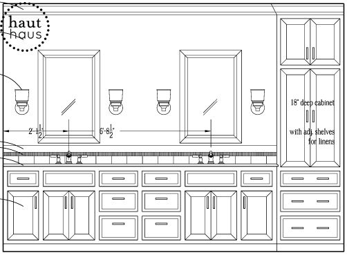 Bathroom Mirror Cabinet With Light And Standalone Bahtroom Sink And Bathroom Wall Cabinet Plans: Master Bathroom Project