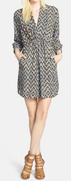 Loving this ikat print v-neck dress http://rstyle.me/n/g3bxvnyg6