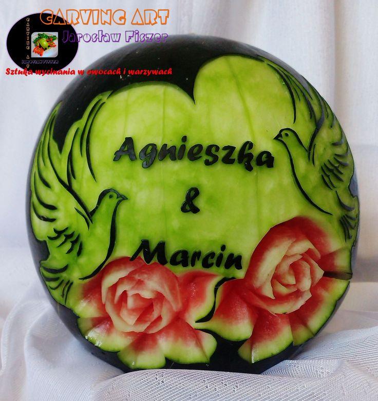 Weselny arbuz Agnieszki i Marc