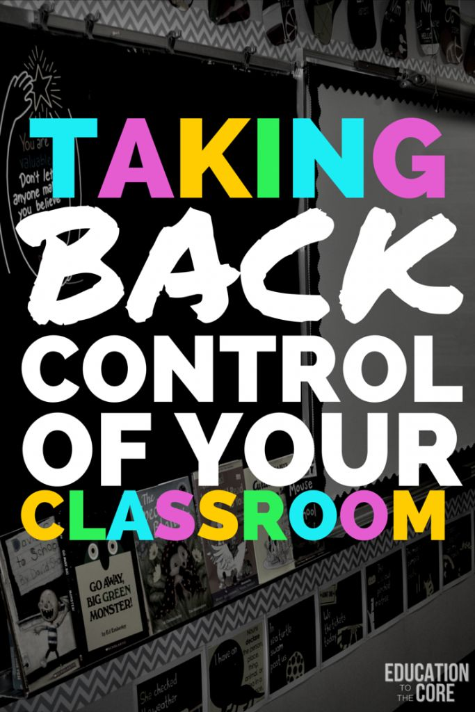 Taking back control of your classrooms - there is definitely at least ONE idea, probably more everyone could try!