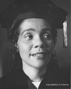 coretta scott king | Coretta Scott King prepares to give the commencement speech at ...