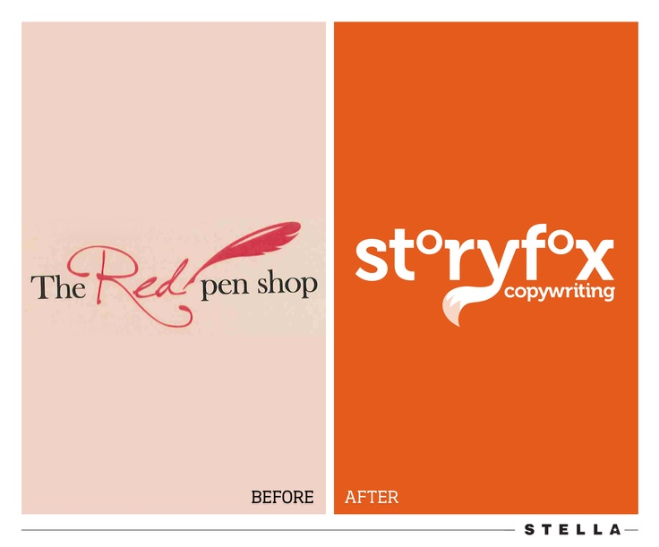 Storyfox Copywriting #branding before and after