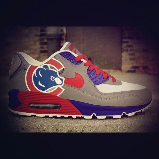 ... Chicago Cubs Cubdown Colorway  1 Custom Nike Air Max  Chicago Cubs Shoes  ... 71c5c644d