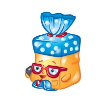 Bread Head (Shopkins 1-033, 1-040) Bread Head is a common Bakery Shopkin from Season One. Bread Head is a yellow pack of bread with a blue twist at the top. He wears red glasses.  His variant is white with a pink twist. He wears lilac glasses.