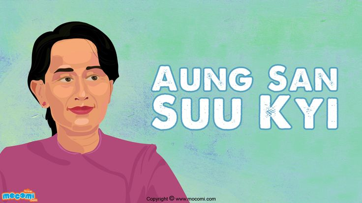 Aung San Suu Kyi is a Burmese politician, diplomat and author and winner of a Nobel Peace Prize. She is the leader of the National League for Democracy. Read more short biographies for kids, visit: http://mocomi.com/learn/culture/famous-people/biography/