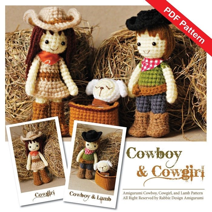 Pattern Deal - Cowboy Set of Two Patterns. $8.50, via Etsy.