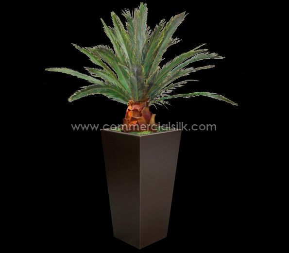 7' Preserved Pineapple Palm Tree of Green color is made by Commercial Silk Int'l. Preserved palm trees by Commercial Silk International are manufactured using palm fronds that have been harvested from living trees and then are systemically preserved to retain their natural beauty.