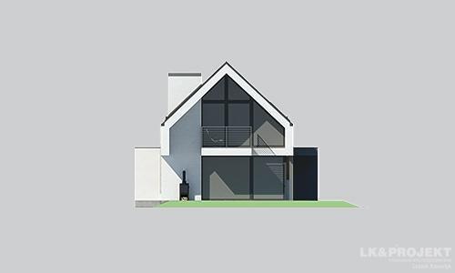 Projekty domów LK Projekt LK&1398 elewacja 3