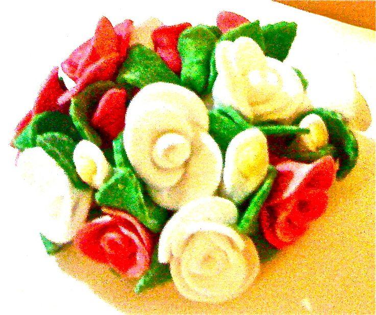 #flowers #bouquet #fiori #wedding #matrimonio #rose #roses #calle #cakedesign #sugarpaste #pastadizucchero #mordimibyemme