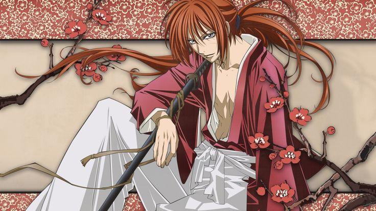 Скачать обои rurouni kenshin, himura kenshin, battousai, мечник, рыжий, раздел аниме в разрешении 1366x768