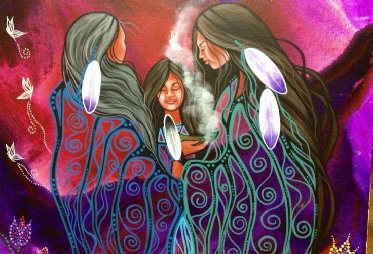 Jackie Traverse from Winnipeg.. amazing artist.. I love her work