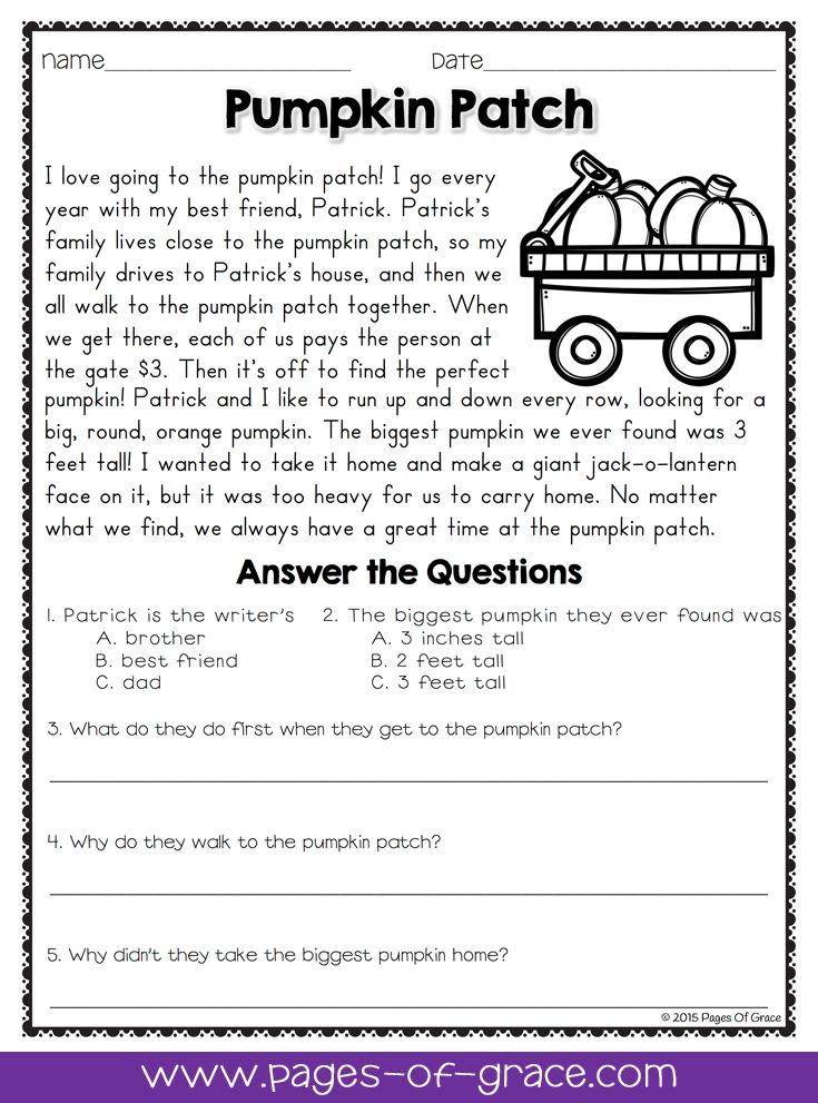 find a unseen passage with question for class 5
