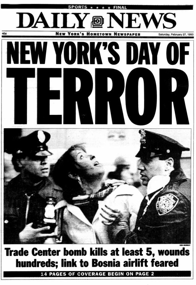 world trade bombing essay In the wake of last week's terrorist attacks on the world trade center and the  pentagon, new yorker staff writers and contributors reflect on the.