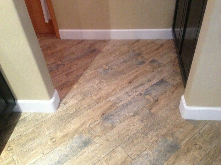 Porcelain Wood Tile Natural Redwood We Put This In Our