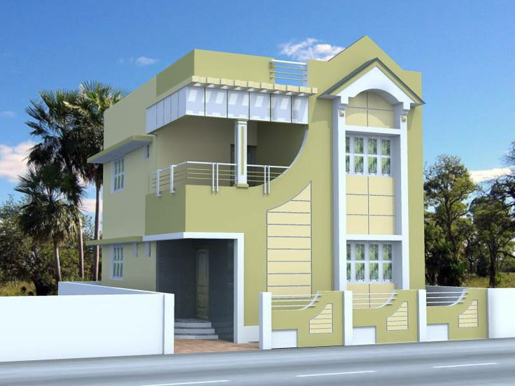 Front Design Of House In Small Budget Part - 24: Home Plans One Room School | House For A Small Lot, Elevation Drawing. Click