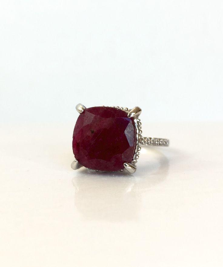Anillo de diamante rubí NATURAL, anillo rojo de la piedra preciosa de plata esterlina, Julio Birthstone, regalo de aniversario para ella, anillo de promesa, raíces joyería, talla 4 de AntiqueJewelryForFun en Etsy https://www.etsy.com/es/listing/270288913/anillo-de-diamante-rubi-natural-anillo