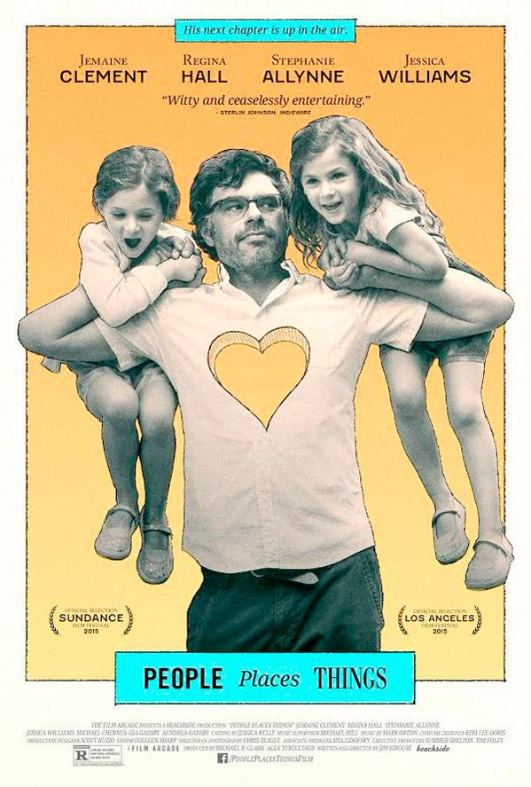 Watch the movie trailer for People Places Things (2015) on Movie-List. Directed by James C. Strouse and starring Jemaine Clement, Regina Hall, Jessica Williams and Stephanie Allynne. Will Henry is a newly single graphic novelist balancing parenting his young twin daughters and a classroom full of students while exploring and navigating the rich complexities of new love and letting go of the woman who left him.