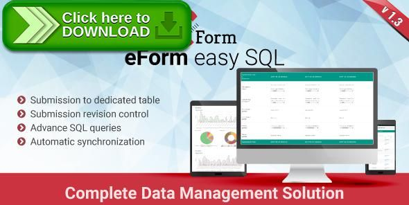 [ThemeForest]Free nulled download eForm Easy SQL - Submission to DB & Revision Control from http://zippyfile.download/f.php?id=42587 Tags: ecommerce, data-mining, database, eform, form, fsqm, query, revision, sql, xlsx