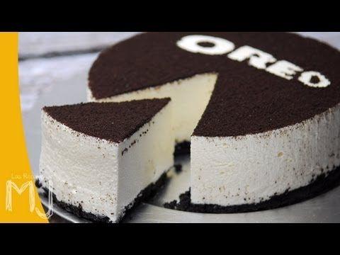 Las Recetas de MJ   CHEESECAKE DE OREO (SIN HORNEAR) - YouTube