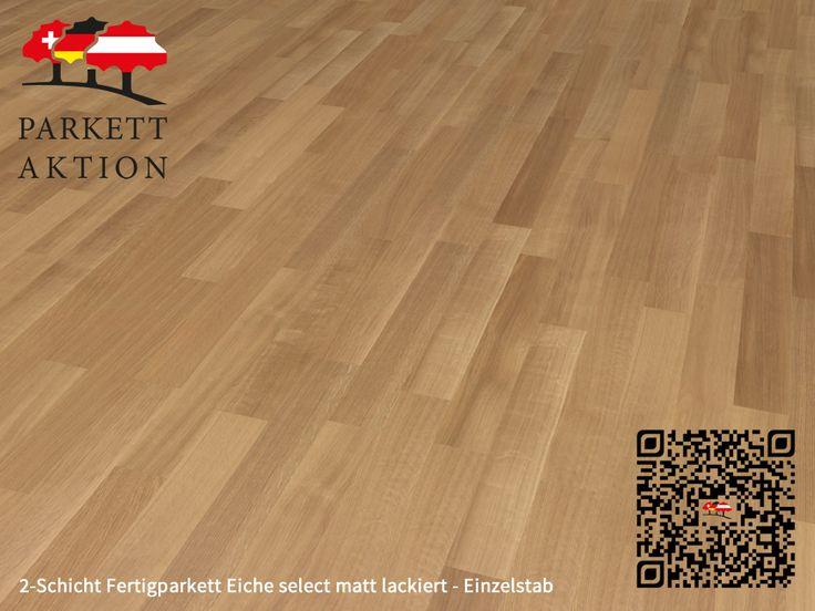 2-Schicht Fertigparkett Eiche select matt lackiert - Einzelstab  Format: 490 x 70 x 11 mm