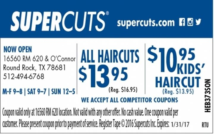 Details: Download the Supercuts app and add your name to the wait list at your favorite salon from your phone! Limited time only! Limited time only! Include nearby city with my comment to help other users.