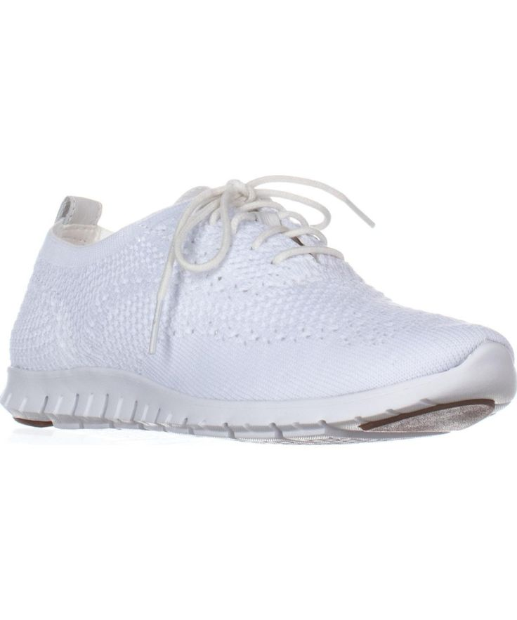 COLE HAAN | Cole Haan Zerogrand Stitchlite Oxford Fashion Sneakers, Optic White Knit #Shoes #Sneakers #COLE HAAN