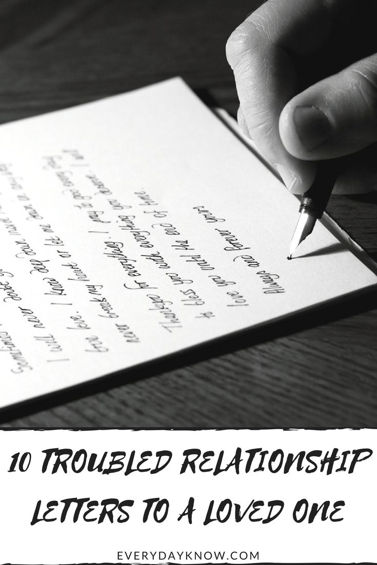 Love letters for a troubled relationship
