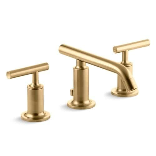 Kohler K-14410-4 Purist Widespread Bathroom Faucet with Ultra-Glide Valve Technology - Free Metal Pop-Up Drain Assembly with (