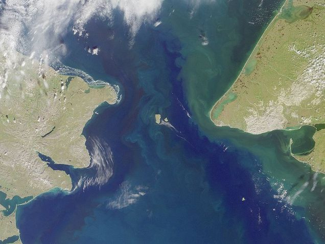 Bering Strait and Diomedes Islands
