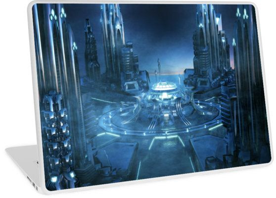 Sci -Fi City Centre - Laptop Skin #laptopskins #laptopaccessory #scifiart #sciencefiction