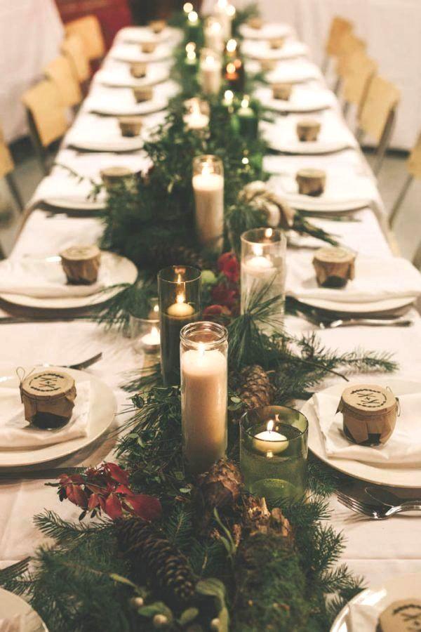 Diy Woodland Wedding Party At Begbie Drops In Uk Columbia Weddingreceptionflowers Winter Wedding Table Winter Wedding Decorations Christmas Wedding Decorations