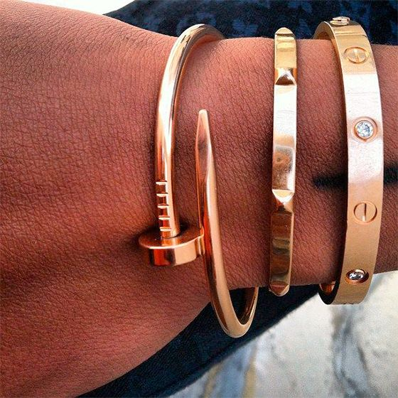 4028ae10e4d Bracelete Prego em 2019