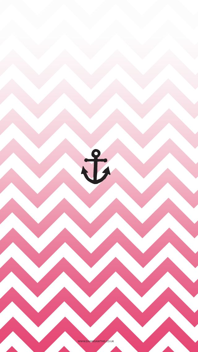 Free Pink Anchor Chevron iPhone Wallpaper