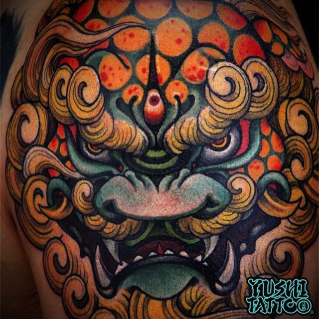 m s de 25 ideas incre bles sobre tatuaje del perro foo en pinterest perro foo foo dog tattoo. Black Bedroom Furniture Sets. Home Design Ideas