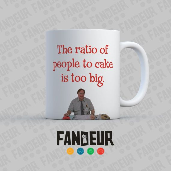High Quality Office Space Milton Cake Ratio Coffee / Tea Mug By Fandeur On Etsy