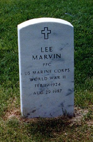 "Lee Marvin (1924 - 1987) Starred in the movie ""Cat Ballou"", also appeared in ""The Man Who Shot Liberty Valance"", ""The Dirty Dozen"" and many other films"