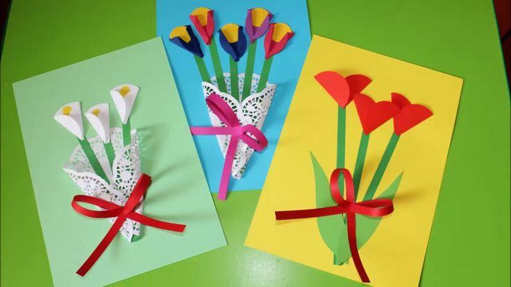 Laurki Proste Kwiaty Z Kolek Spring Crafts Flower Crafts Mothers Day Crafts