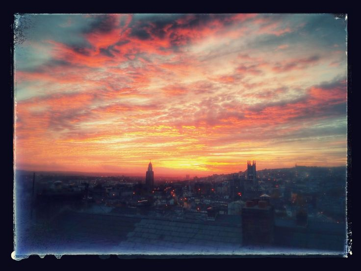 Cork City Ireland winter sunset